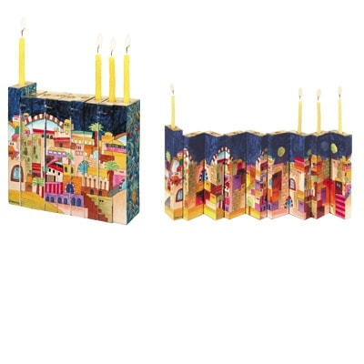 ", ""Accordion"" Menorah – Jerusalem, Jewish.Shop"