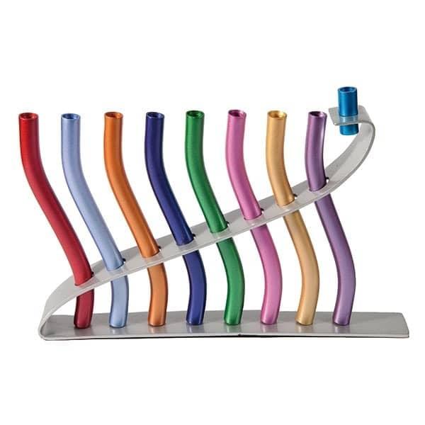 , Dancing Chanukah menorah – colorful, Jewish.Shop