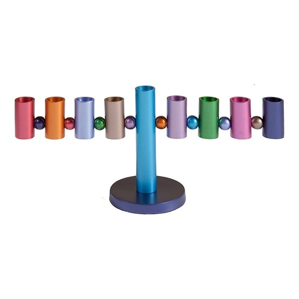 , Chanukah menorah  – Satellite – Colored, Jewish.Shop