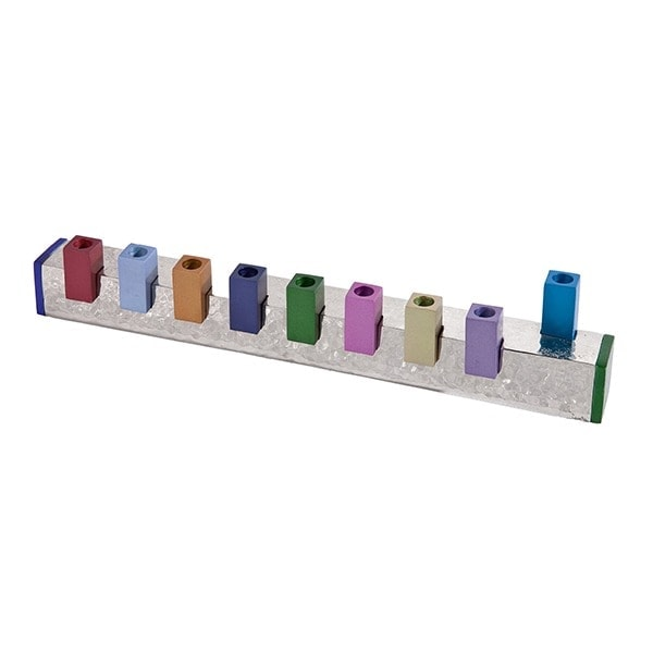 , Simple Hammer Menorah – Colorful, Jewish.Shop