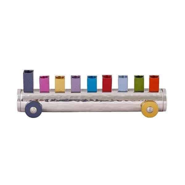 , Chanukah menorah – Train – Colorful, Jewish.Shop