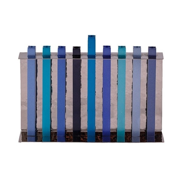 , Hanukkah menorah – Blue, Jewish.Shop