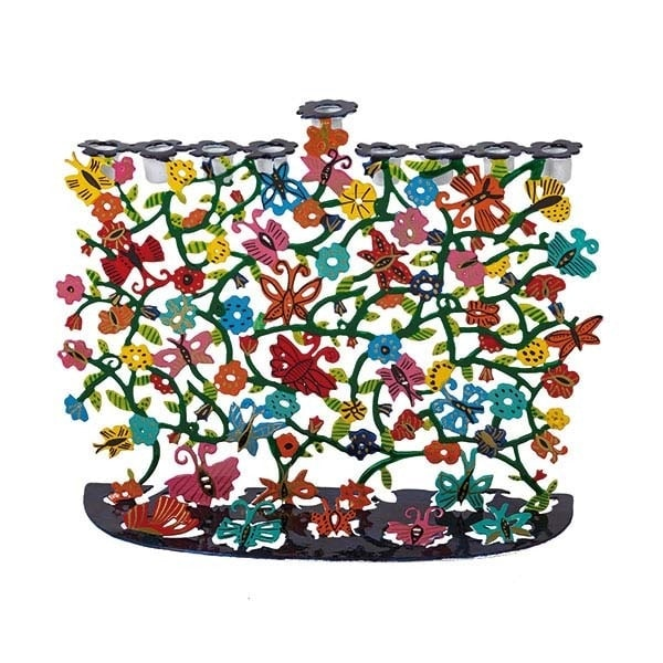 , Hanukkah menorah – artist act – butterflies, Jewish.Shop