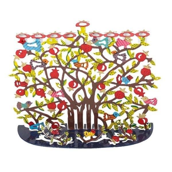 , Hanukkah menorah – artist act – Pomegranate s, Jewish.Shop