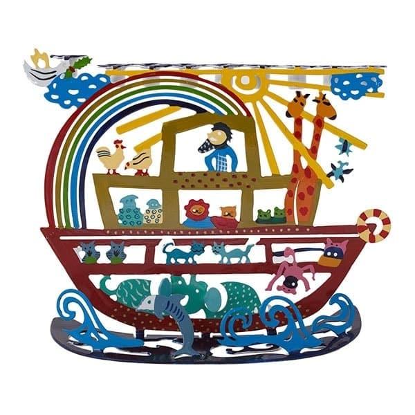 , Hanukkah menorah – artist act – Noah's box, Jewish.Shop