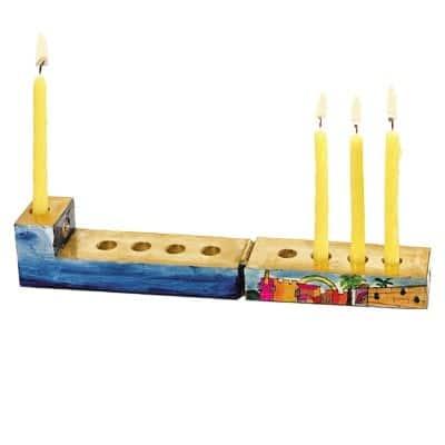 , Menorah in a box – Jerusalem, Jewish.Shop