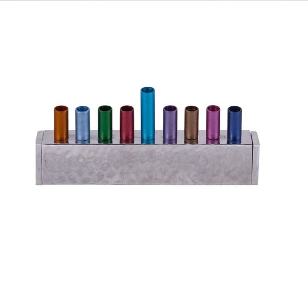 ", Chanukkah menorah ""Brick"" – colored, Jewish.Shop"