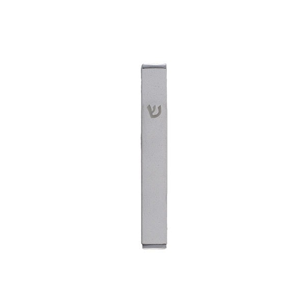 , Small Mezuzah designed (8 cm) – white, Jewish.Shop