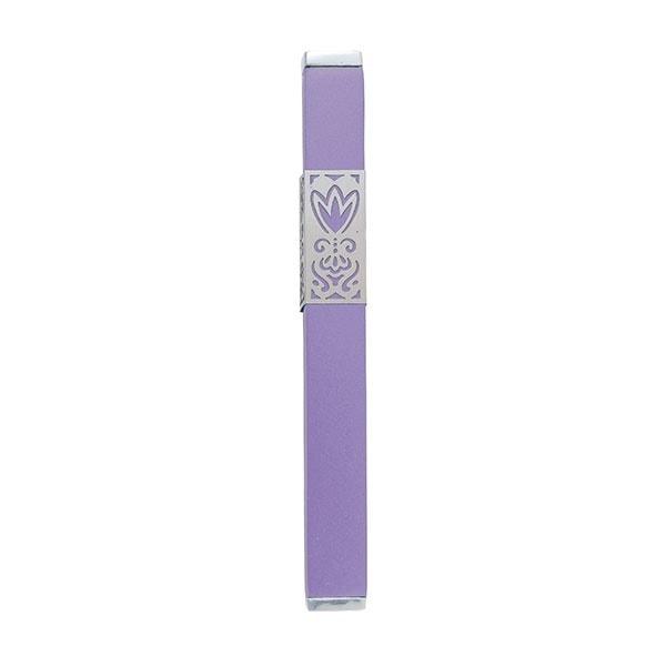 ", Mezuzah Case ""Flower of the Heart"" – purple, Jewish.Shop"