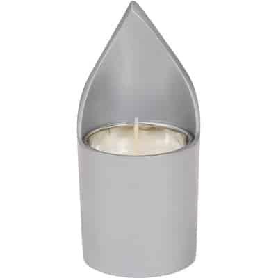 ", A soul-candle holder ""flame"" – Aluminum, Jewish.Shop"