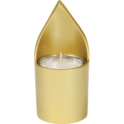 """, A soul-candle holder """"flame"""" – Gold, Jewish.Shop"""