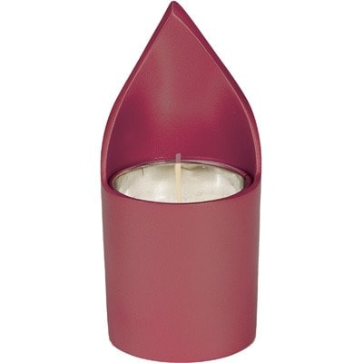 ", A soul-candle holder ""flame"" – burgundy, Jewish.Shop"