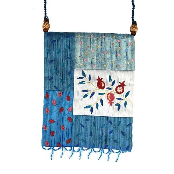, Side bag – Pomegranate s in the app – blue, Jewish.Shop