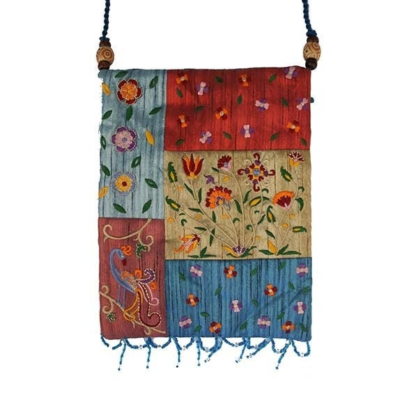 , Side bag – flowers in the app – colourful, Jewish.Shop