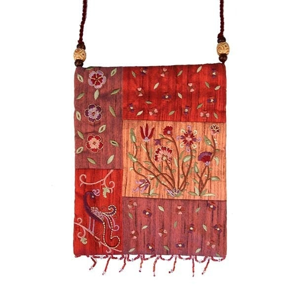 , Side bag – flowers in the app – red, Jewish.Shop