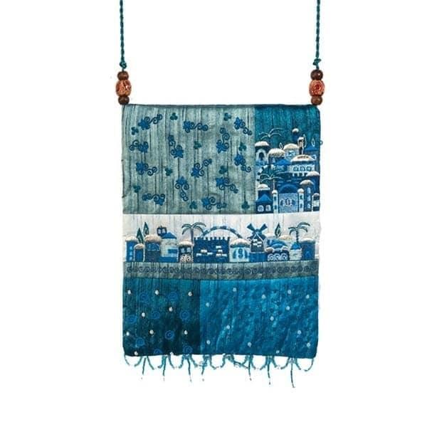 , Side bag – Jerusalem in the app – blue, Jewish.Shop