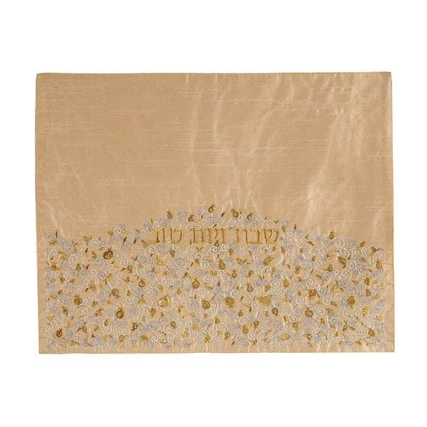 , Challah Cover – Pomegranate Hill – Gold, Jewish.Shop