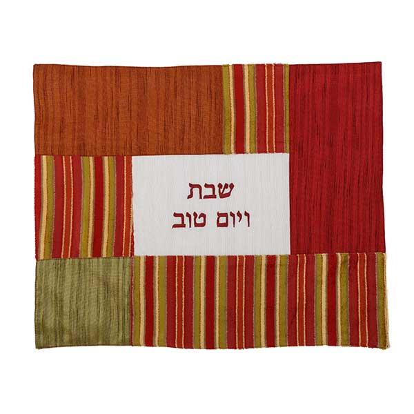 , Challah Cover – Beautiful Fabrics – Striped Bordeaux, Jewish.Shop