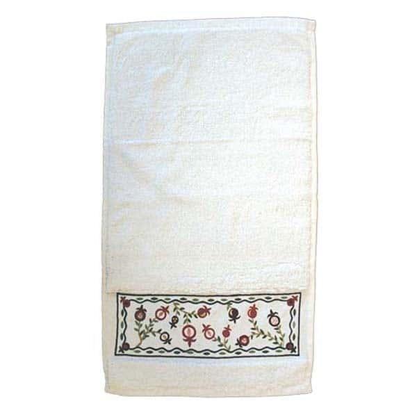 , Towel – embroidery – pomegranates, Jewish.Shop