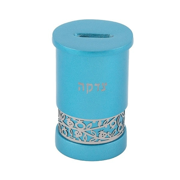 ", Tzedakah box ""The Gartel""  – turquoise, Jewish.Shop"