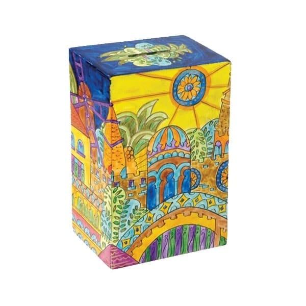 , Tzedakah box- Holy City, Jewish.Shop