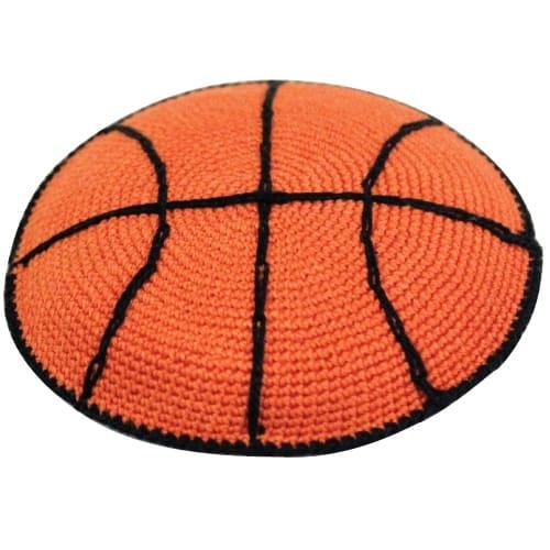 ", Knitted ""basketball"" Kippa, Jewish.Shop"