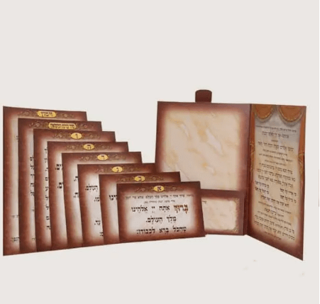 , Order of wedding blessing – 7 cards for 7 blessing, Jewish.Shop