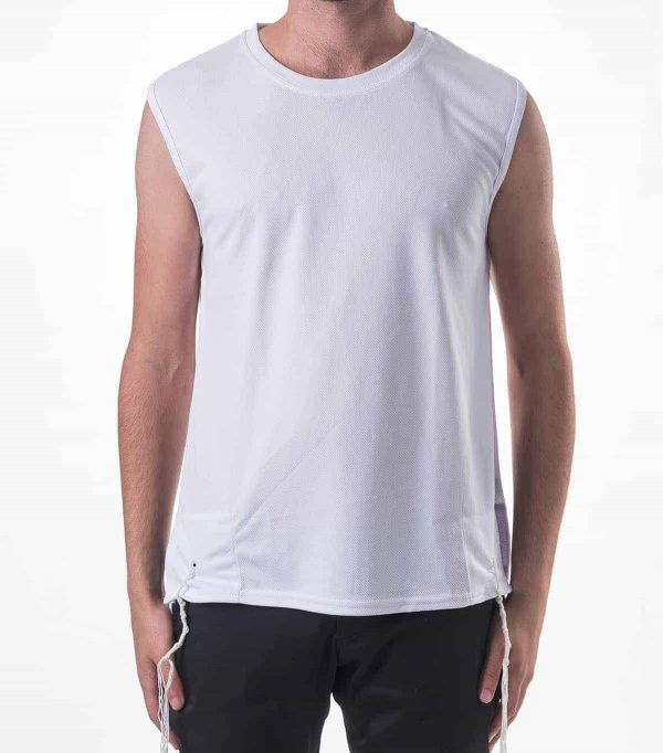 , DRY FIT white undershirt with Tzitzit, Jewish.Shop